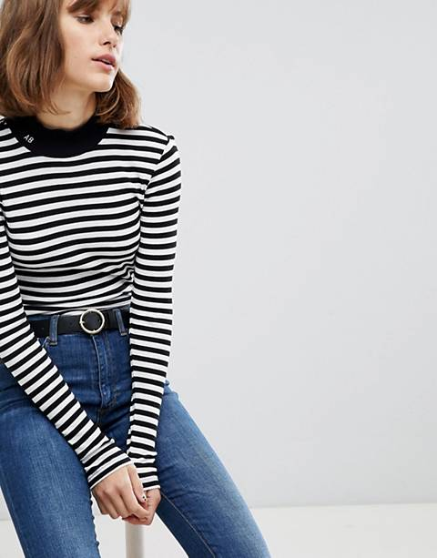 Maison Scotch Stripe Turtleneck Sweater