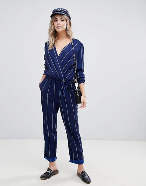 Maison Scotch striped jumpsuit