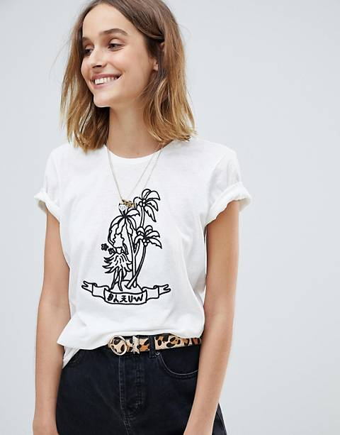 Maison Scotch Tattoo Inspo Print T-Shirt
