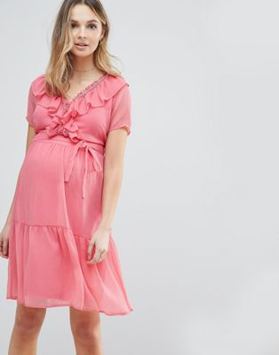 Mamalicious Frill Tea Dress