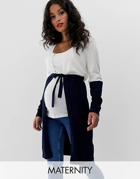 Mamalicious maternity lightweight colourblock cardigan