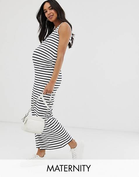 410f3a84253 Mamalicious maternity stripe jersey maxi dress