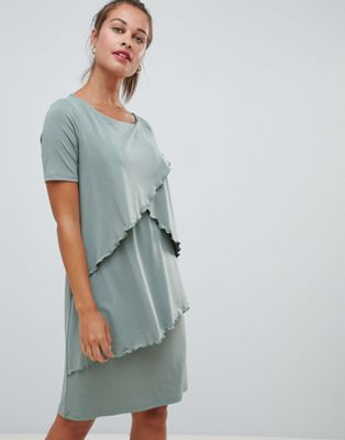 Mamalicious nursing layered midi dress
