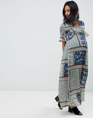 Mamalicious patchwork maxi dress