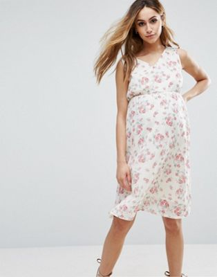 Mamalicious Sleeveless Floral Printed Woven Dress