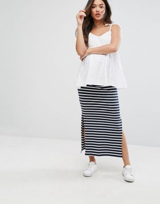 Mamalicious Striped Maxi Tube Skirt