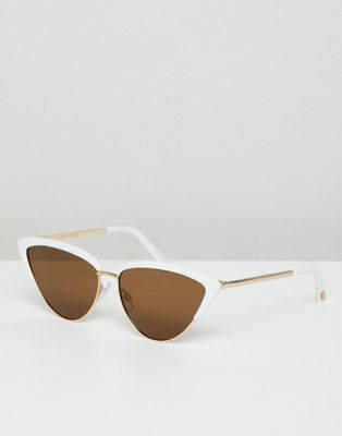 Mango cat eye sunglasses in white