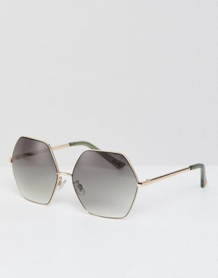 Mango hexagonal sunglasses in multi
