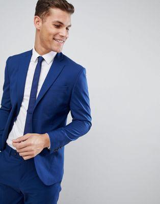 Mango Man - Giacca da abito slim blu navy