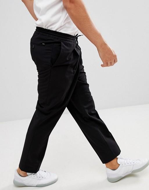 Schwarze Bundfalten mit Hose schwarz Mango Man Ywq500