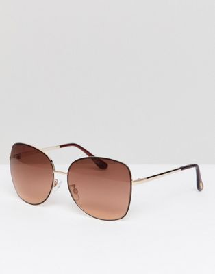 Mango Oversized Metal Frame Sunglasses