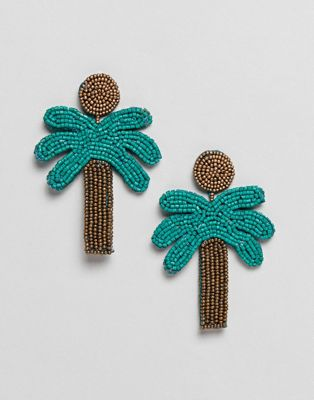 Mango palm tree earrings in multi