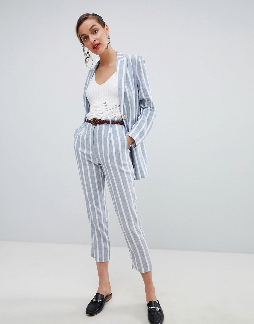 Mango Stripe Relaxed Suit by Asos Brand