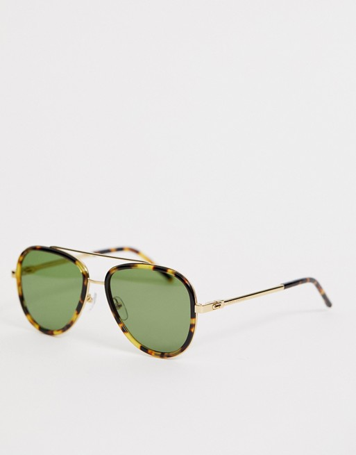 Marc Jacobs aviator sunglasses in tort