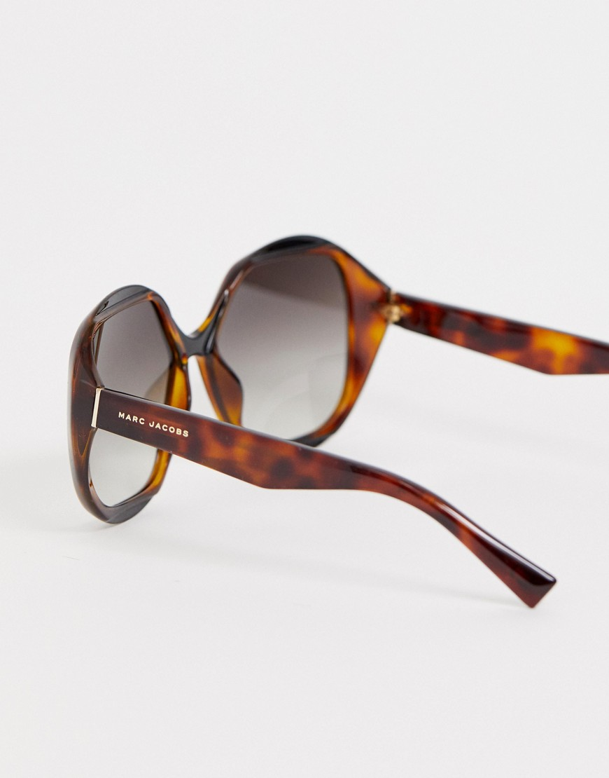 Marc Jacobs Oversized Sunglasses In Tort by Marc Jacobs