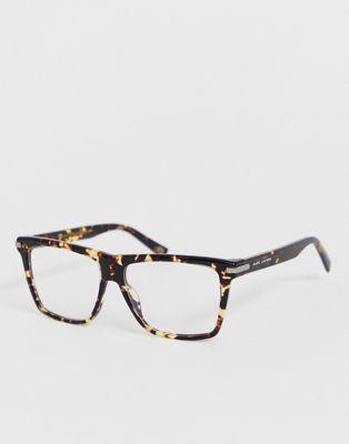 Marc Jacobs tortoiseshell square glasses