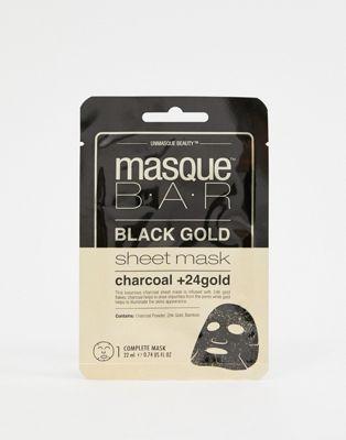 Mascarilla Black Gold Charcoal & 24k Gold de MasqueBAR