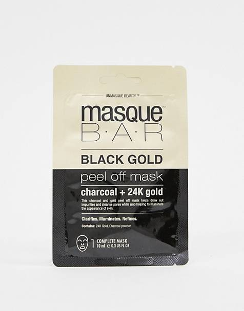 MasqueBAR Black Gold Charcoal & 24k Gold Peel Off Mask