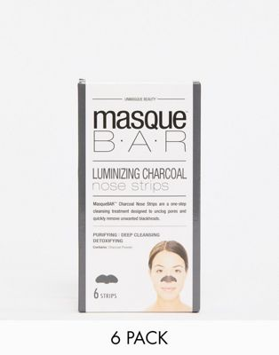 MasqueBAR Charcoal Nose Strips x6