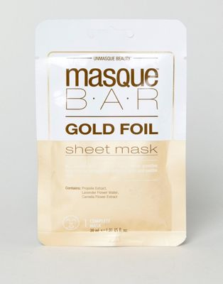 MasqueBAR Gold Foil Calming Sheet Mask