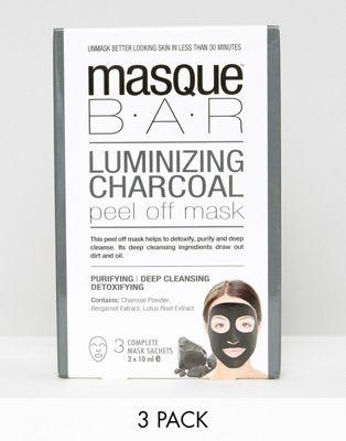MasqueBAR – Peel-off-Maske mit Kohle, 3 Stück