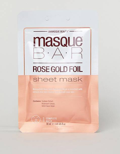 MasqueBAR Rose Gold Foil Moisturizing Sheet Mask