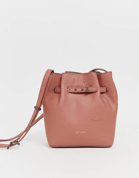 Matt & Nat mini lexi bucket bag in clay