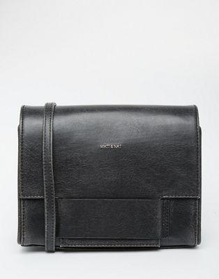Matt & Nat Shareen X Body Bag With Front Foldover pocket detail