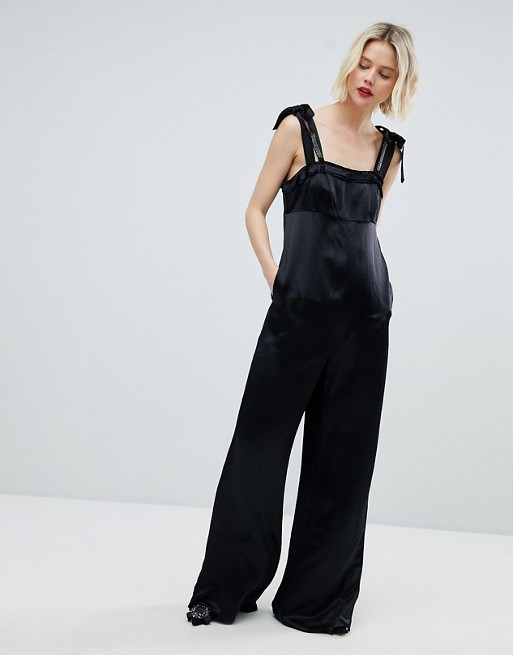 Image 1 of MAX&Co Palma Bow Detail Jumpsuit