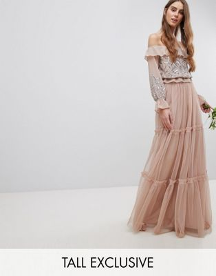 Maya Tall Premium Tulle Layered Maxi Bridesmaid Skirt