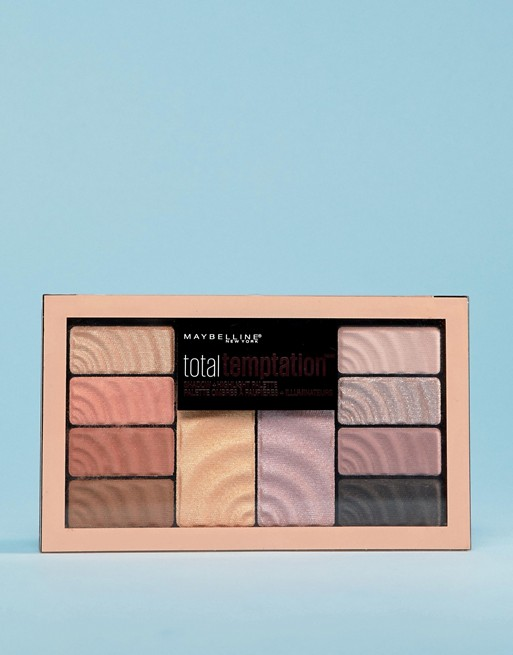 Image 1 of Maybelline Total Temptation Eyeshadow & Highlight Palette