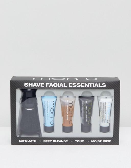 men-u - Essentiels de rasage pour le visage avec brosse à raser
