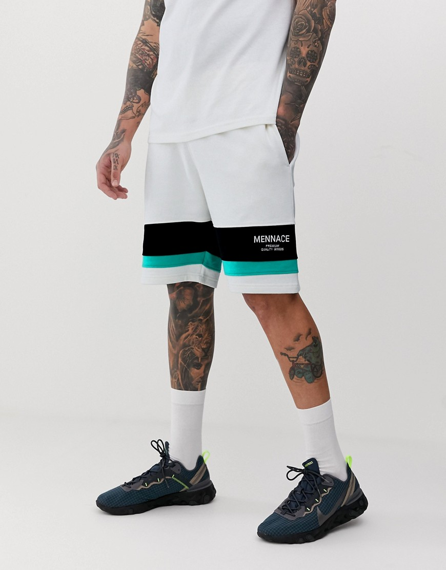Mennace Co Ord With Logo Panel In Off White by Asos