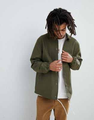Mennace Coach Jacket In Khaki
