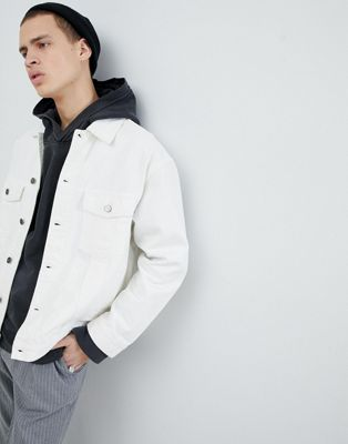 Mennace Denim Jacket In White