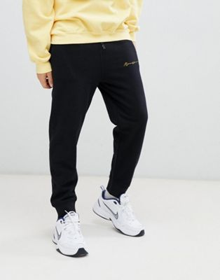 Mennace joggers in black with script logo