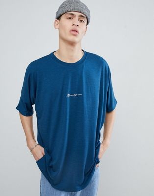 Mennace Oversized Logo T-Shirt In Teal