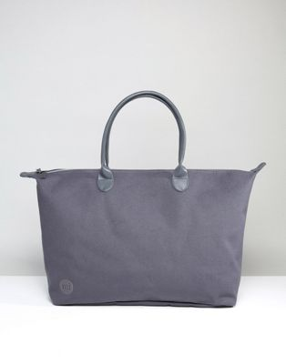 Image 1 of Mi-Pac Exclusive Canvas Weekender Bag in Charcoal Canvas