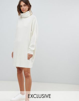 Image 1 of Micha Lounge relaxed sweater dress with roll neck