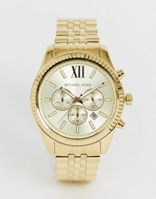Michael Kors MK8281 Lexington Gold Chronograph Watch