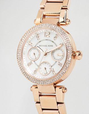 Michael Kors Parker Rose Gold Chronograph Watch MK5616