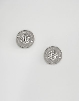 Michael Kors Silver Circle Stud Earrings