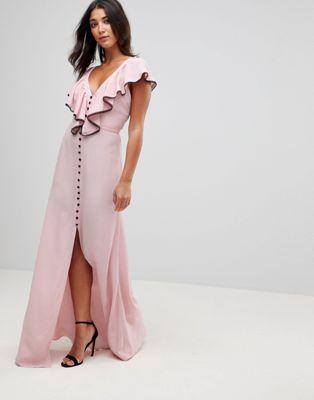 Millie Mackintosh -  Dorchester - Lange jurk met ruche vooraan