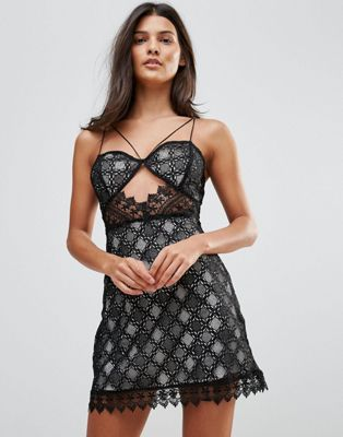 Millie Mackintosh Notting Hill Lace Cut Out Slip Dress