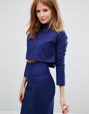 Millie Mackintosh Tailored Crop Top Co-ord