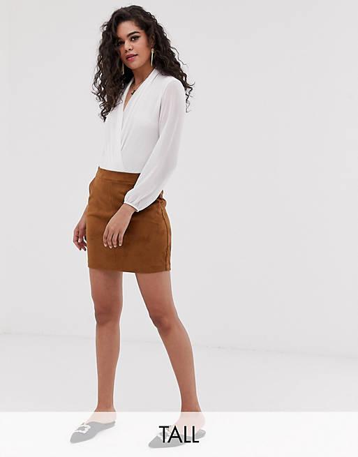 Мини-юбка из искусственной замши Vero Moda Tall
