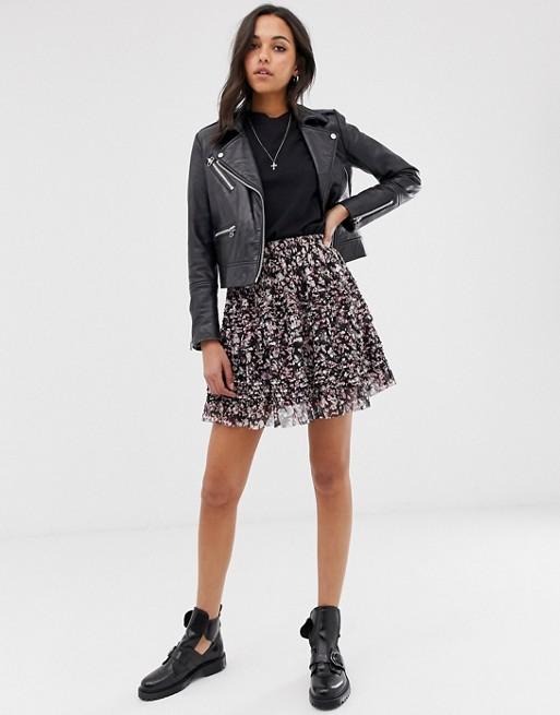Изображение 1 из Мини-юбка с цветочным принтом AllSaints - sanse
