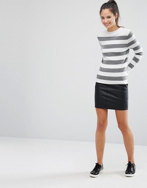 Minifalda de poliuretano de Only