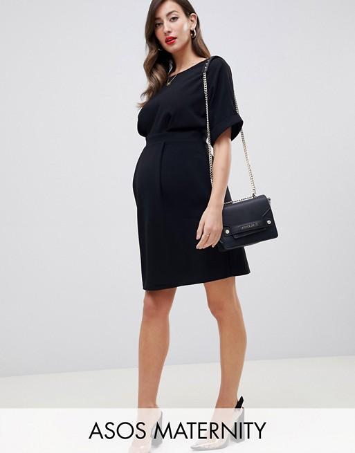 Minivestido de efecto movimiento de ASOS DESIGN Maternity