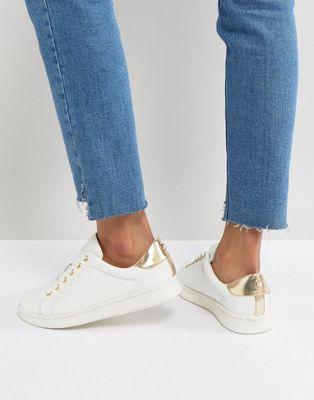 Miss KG - Sneaker met pareldetail